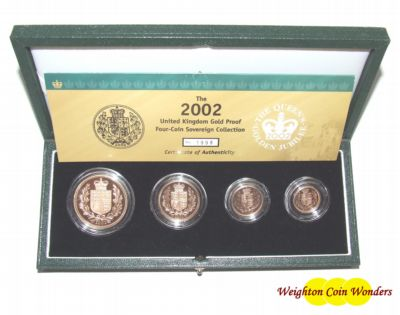 2002 Gold Proof 4 COIN SET – Shield Reverse Design