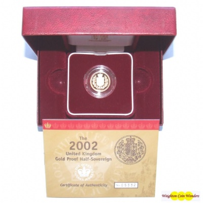 2002 Gold Proof 1/2 Sovereign – Modern Shield Reverse