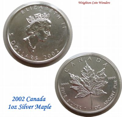 2002 1oz Silver Maple