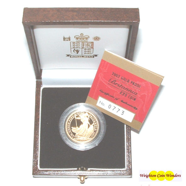 2002 Gold Proof 1/4 oz Britannia