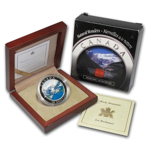 2003 $20 Silver Proof Natural Wonders - The Canadian Rockies