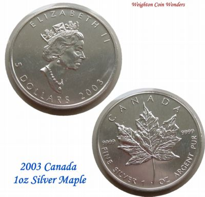 2003 1oz Silver Maple