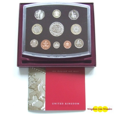 2003 Royal Mint Standard Proof Set
