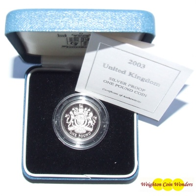 2003 Silver Proof £1