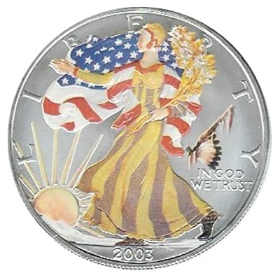 2003 1oz Silver Eagle – Peace Pipe Privy Mark