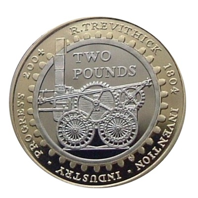 2004 £2 Coin - Steam Locomotive