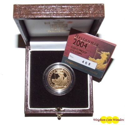 2004 Gold Proof ¼ oz Britannia