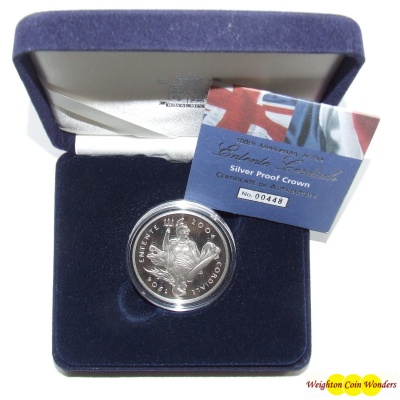 2004 Silver Proof £5 Crown - Entente Cordiale