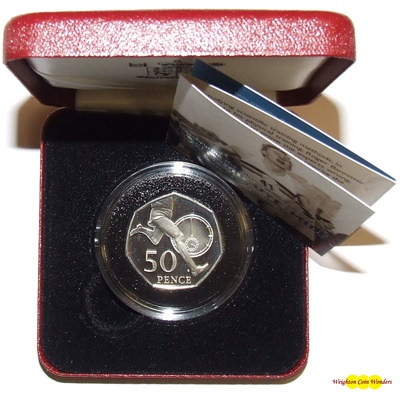2004 Silver Proof 50p – Roger Bannister
