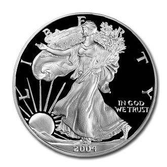 2004 USA 1oz Silver Proof EAGLE