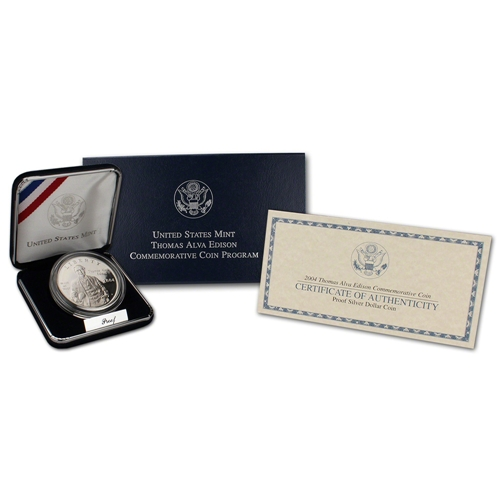 2004 Thomas Alva Edison Silver Proof $1