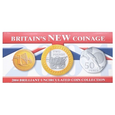 2004 BU Coin Collection - Britain's new Coinage