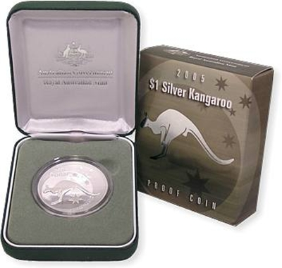 2001 1oz Silver Proof Kangaroo
