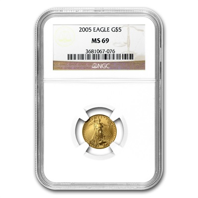 2005 Gold 1/10th oz EAGLE - MS69