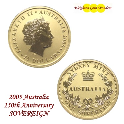 2005 Australia 150th Year SOVEREIGN