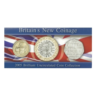 2005 BU Coin Collection - Britain's new Coinage