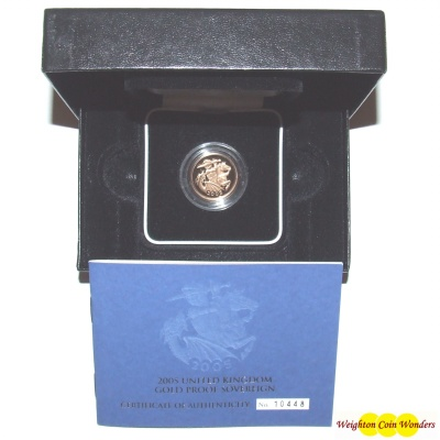 2005 Gold Proof Sovereign – Modern St George & Dragon