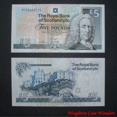 2005 Royal Bank of Scotland Plc £5 – Royal College of Surgeons