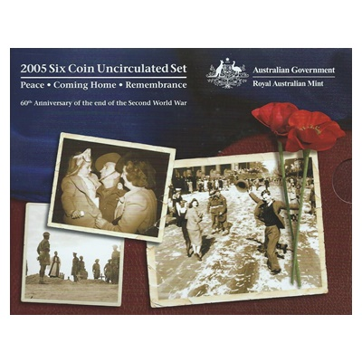 2005 6 Coin Unc Set - 60th Anniversary WWII