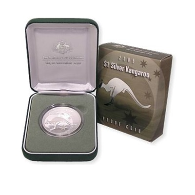 2005 1oz Silver Proof Kangaroo