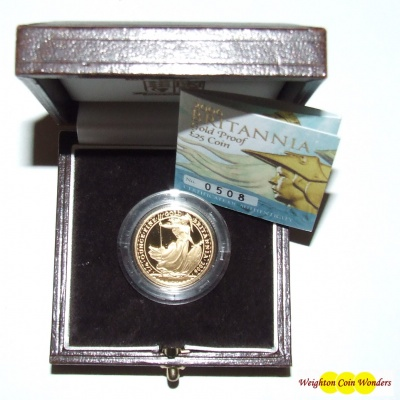 2006 Gold Proof ¼ oz Britannia