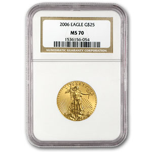 2006 1/2oz Gold EAGLE MS70