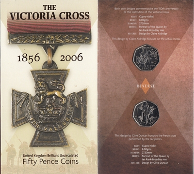 2006 BU 50p Coin Pack (2 Coins) - The Victoria Cross (1856-2006)