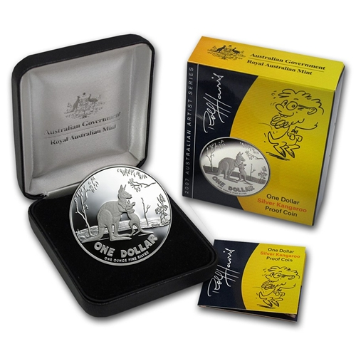 2007 1oz Silver Proof Kangaroo