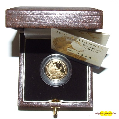2007 Gold Proof 1/10th oz Britannia - New Design