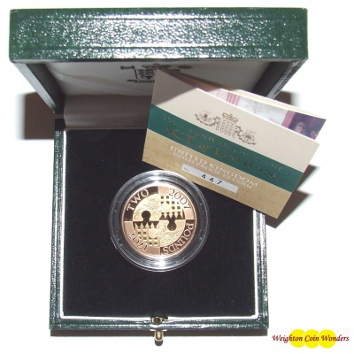 2007 Gold Proof £2 - Act of Union - RAREST OF ALL MODERN £2