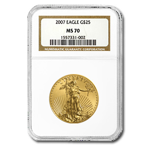 2007 1/2oz Gold EAGLE MS70