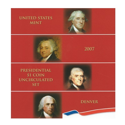2007 Presidential $1 Coin Uncirculated Set (D)