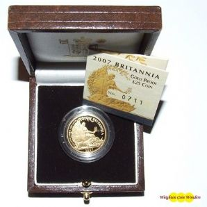 2007 Gold Proof 1/4 oz Britannia - New Design
