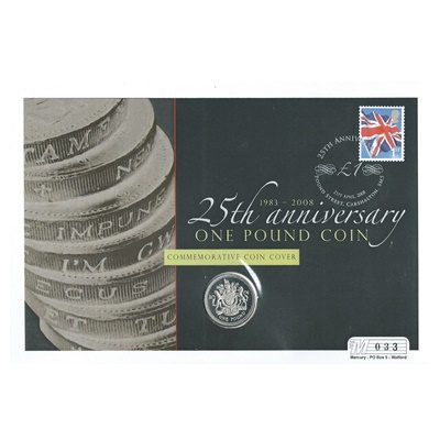 2008 £1 Silver Proof - 25th Anniversary of the £1