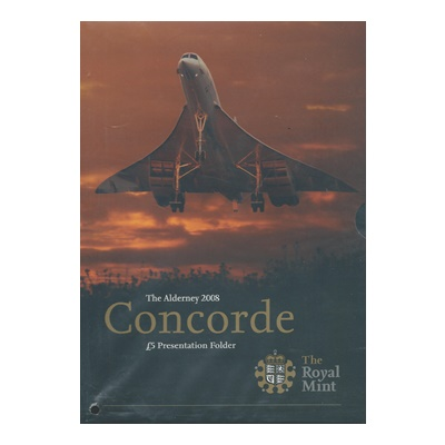 2008 BU £5 Crown Pack - 5th Anniversary of Concorde
