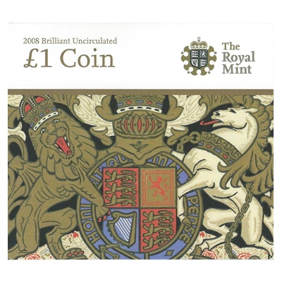 2008 BU £1 Coin - The Royal Arms - Presentation Pack