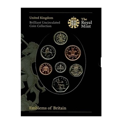 2008 Brilliant Uncirculated Coin Set - Emblems of Britain