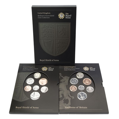 2008 Brilliant Uncirculated Royal Shield of Arms & Emblem Set