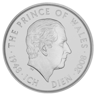2008 £5 - HRH Prince of Wales 60th Birthday