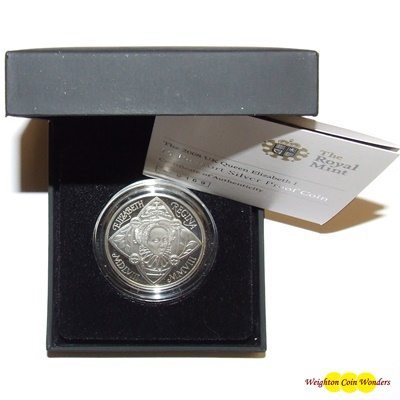 2008 Silver Proof Piedfort £5 - Queen Elizabeth I