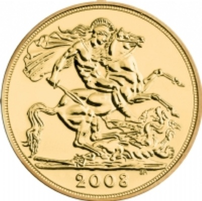 2008 QE II Gold SOVEREIGN