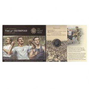 2008 £2 BU Coin Pack - 100th Anniversary The 4th Olympiad