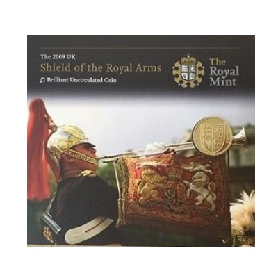 2009 BU £1 Coin - Shield of the Royal Arms - Presentation Pack