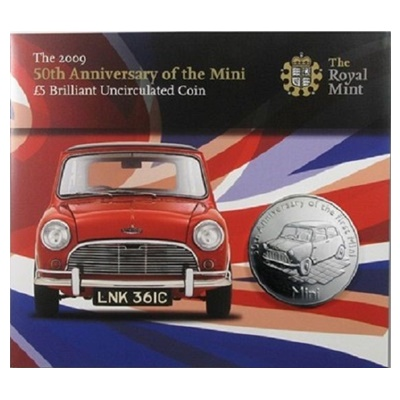2009 BU £5 Crown Pack - 50th Anniversary of the Mini