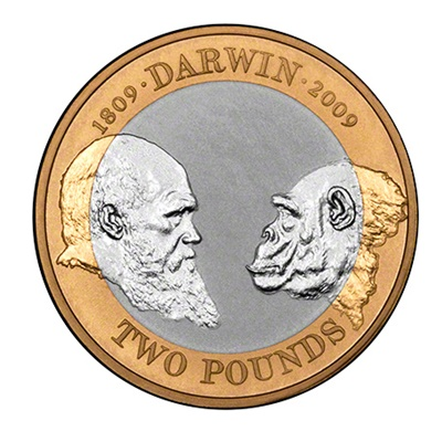2009 £2 Coin - 200th Anniversary of Charles Darwin