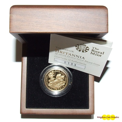 2009 Gold Proof 1/4 oz Britannia - New Design