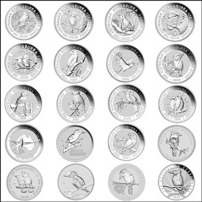 2009 P20 Series 1oz KOOKABURRA - Complete Set