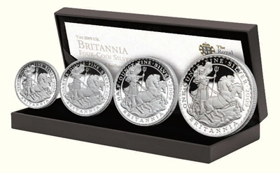 2009 Silver Proof BRITANNIA 4 Coin Set - NOW IN STOCK