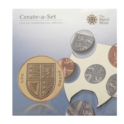2009 Royal Mint Create a Set Royal Shield of Arms BU £1 Coin Set