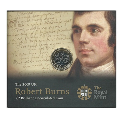 2009 £2 BU Coin Pack - Robert Burns
